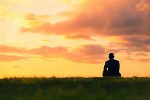 sitting sunset stock photo image
