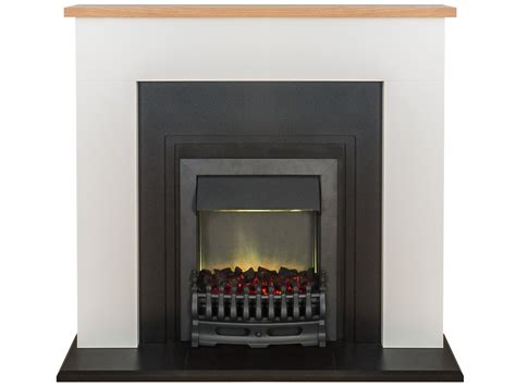 Adam Innsbruck Fireplace Suite In Pure White With Blenheim