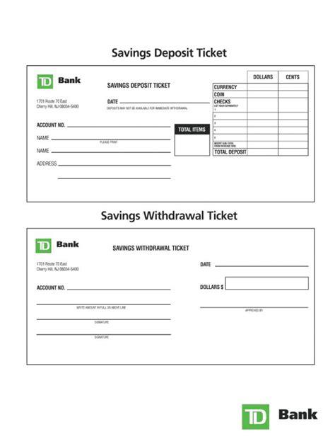 Get Our Sample of Generic Deposit Slip Template in 2020 ...