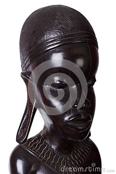 african woman carved  ebony wood stock photography