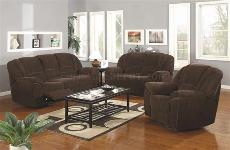 Reclining Microfiber Sofa And Loveseat Set by Brown Microfiber Modern Reclining Sofa Loveseat Set W