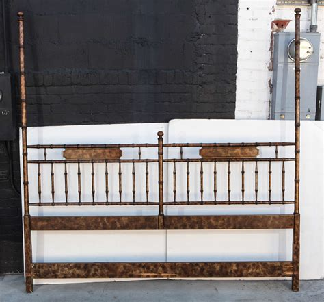 hollywood regency chinoiserie faux bamboo headboard for