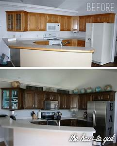 the how to gal how to refinish kitchen cabinets With how to refinish bathroom cabinets