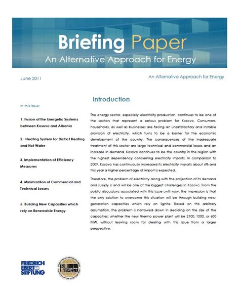 briefing paper template welcome office prishtina friedrich ebert stiftung e v publications