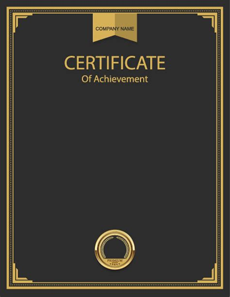 certificate background material certificate templates