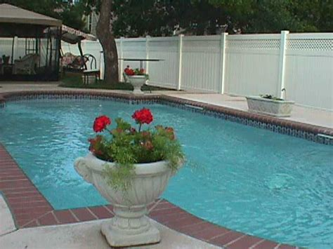 privacy pool fencing pool privacy fence with lattice midland vinyl products oklahoma fencing company