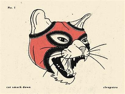 Wrestling Cat Dribbble