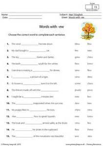 Complete Sentences Worksheet Primaryleap Co Uk Words With Ew Worksheet