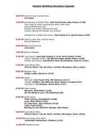 wedding reception program template wedding reception program sle templates sle wedding reception agenda pdf reception