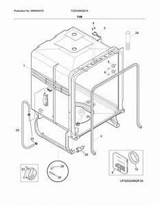 Frigidaire Fgid2466qd1a Dishwasher Parts
