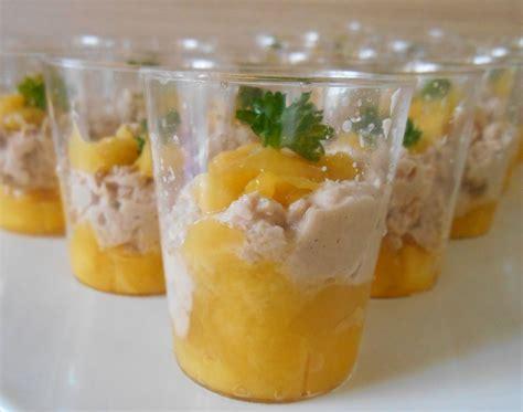 cuisiner le thon verrines mangue thon