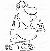 Belly Beer Cartoon Coloring Outline Drawing Drunken Fat Vector Pages Beverage Canned Leishman Drunk Clipart Drawings Ron Line Royalty Getdrawings sketch template
