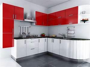 cuisine rouge quelle couleur pour les murs maison design With couleur mur pour cuisine