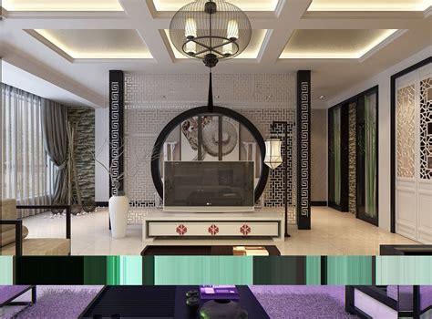 Oriental-stencil-feature-wall-monochrome-living-china.jpeg