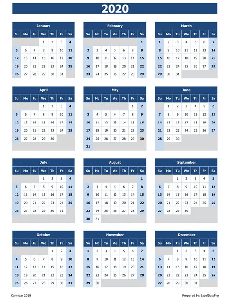 calendar printable excel printable calendar design