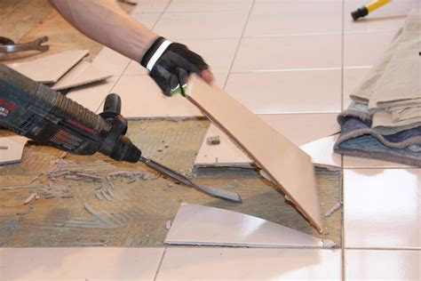 Removing Bathroom Floor Tiles by How To Remove A Tile Floor And Underlayment A Concord