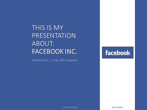 facebook powerpoint template    facebook