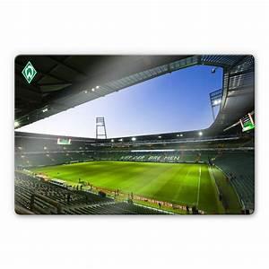 Werder Bremen Kissen : hochwertiges glasbild weserstadion innen von k l wall art ~ Orissabook.com Haus und Dekorationen
