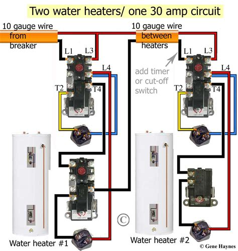 wiring diagram for water heater thermostat free
