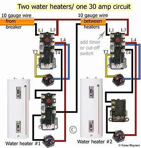 Electric Hot Water Heater Thermostat Wiring Diagram