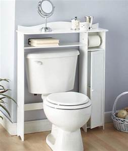Bathroom wooden over the toilet table shelf storage white for 5 bathroom storage over toilet ideas