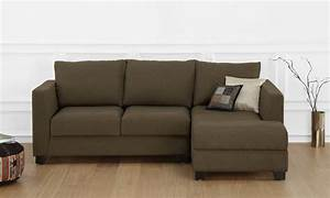 Buy oliver l shape sofa 2 seater with chaise r online for Cody fabric 5 piece l shaped sectional sofa