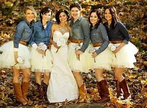 country rustic wedding bridesmaids cowboy boots rustic With country wedding bridesmaid dresses
