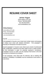 cover sheet resume template word fax cover letter