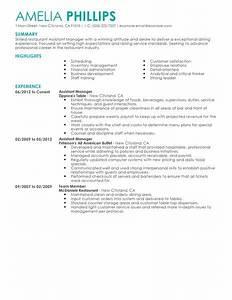 best restaurant assistant manager resume example livecareer With assistant manager resume