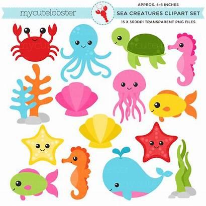 Sea Clipart Ocean Animals Creatures Animal Clip