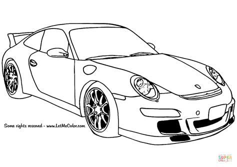 Kleurplaat Simpele Auto by Porsche 911 Gt3 Kleurplaat Gratis Kleurplaten Printen