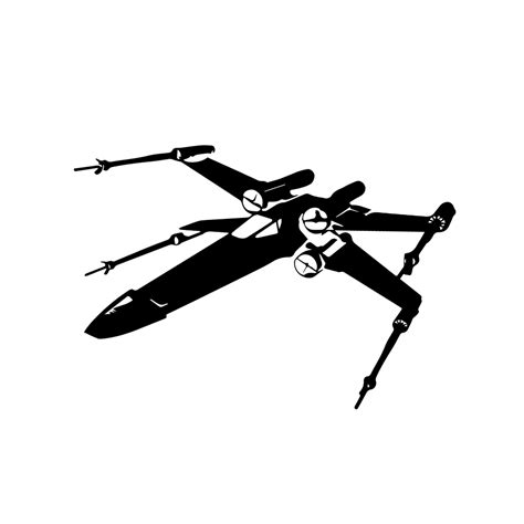X Wing Silhouette Vinyl Sticker Car Decal