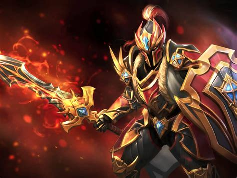 dota  heroes dragon knight sword shield shield initiator