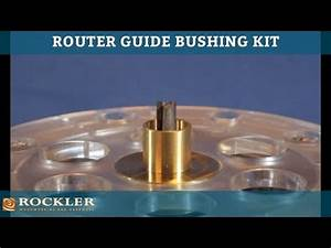 rockler router guide bushing kit youtube With how to use router template guide bushings