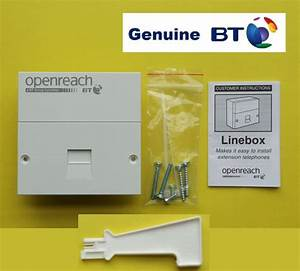 Genuine Bt Master Socket  New  Openreach Brand Nte5 Nte5a Faceplate Bnib Backbox