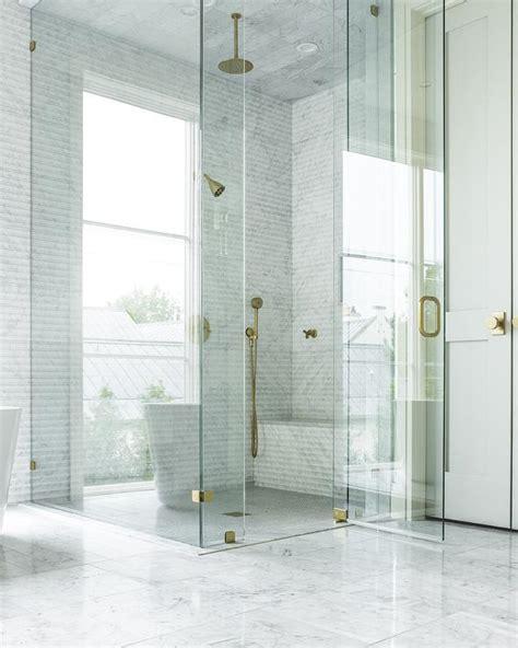 seamless shower doors seamless glass shower with brass hinges and brass door