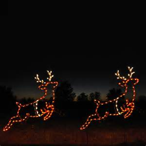shop holiday lighting specialists set of 2 5 92 ft animated reindeer outdoor christmas