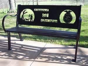 Designer Garden Bench by Custom Outdoor Benches By Hooper Hill Custom Metal Designs