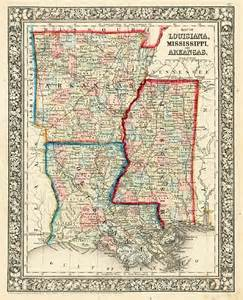 Louisiana Mississippi Map