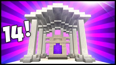 awesome nether portal designs ideas minecraft youtube