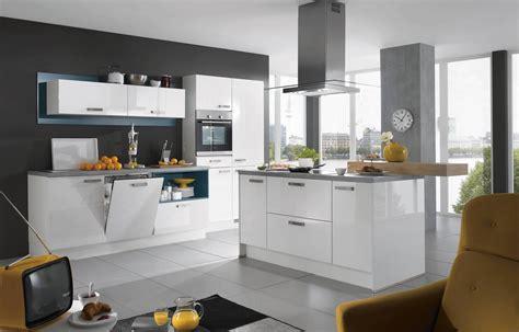 Kaufexpert Küchenzeile Moderno P Weiß Schwarz Hochglanz