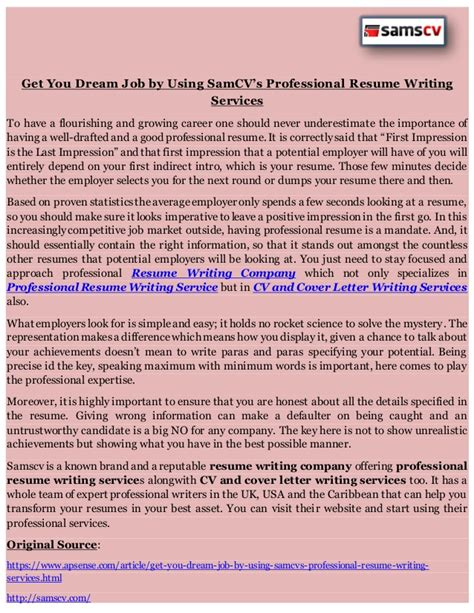 Professional Cv Writing Service by Professional Cv Writing Service Manchester