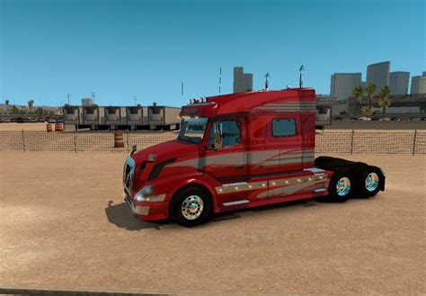 red volvo truck volvo vnl 730 red fantasy for vnl truck shop skin ats