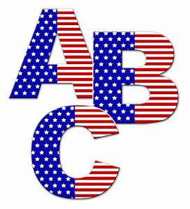 American flag letter wall decal personalized name alphabet for Custom wall letter stickers