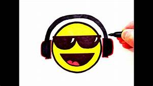 How to Draw a Cool Smiley Face with Sunglasses and Head ...