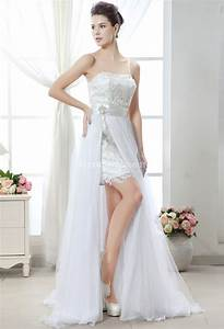 Robe De Mariée Moderne : robe de mari e courte et moderne avec volant ~ Melissatoandfro.com Idées de Décoration