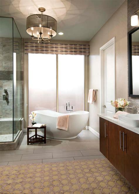 contemporary spa bathroom  glass shower enclosure