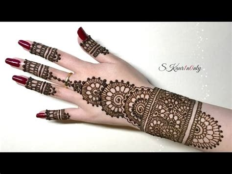 simple pretty indian henna easy indian arabic fusion