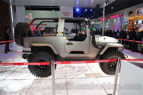mahindra jeep 2016 mahindra thar custom side profile at auto expo 2016