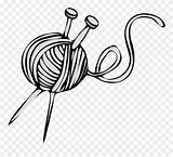Yarn Knitting Ball Clipart Needles Vector Clip Needle Graphics Downloads Pinclipart Clipground Resolution sketch template